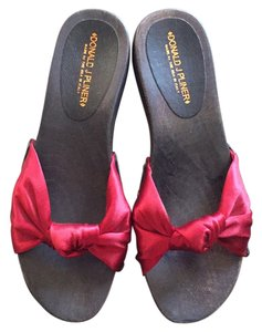 Donald J. Pliner Clogs Red Color Sandals