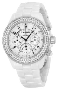 Chanel Chanel J12 Automatic Chronograph 41mm Watch, White Ceramic