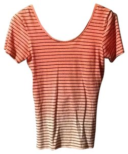 Sanctuary Clothing Ombre Low Back Stripe Top Orange