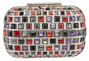 Jimmy Choo Claire Crystal Metal Multi-Color Clutch