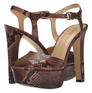 Michael Kors chestnut Embrossed Pumps