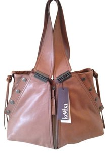 Kooba Large Leather Tote in Taupe