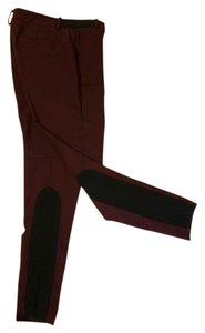 Tibi Equestrian Riding Skinny Pants burgundy