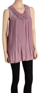 Love2skiVT Pretty Angel Mauve Tunic Fully Lined Silk Blend Out Date Night Top Pink/Mauve