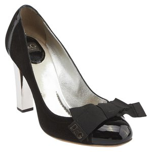 Dolce&Gabbana Patent Leather Suede Black Pumps