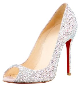 Christian Louboutin Crystal Lady Silver Pumps