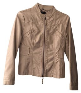 Alfani Beige Leather Jacket