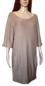 3.1 Phillip Lim short dress Beige Linen Tunic Sweater Silk Shortsleeve on Tradesy