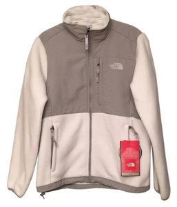 The North Face Fleece Discontinued White/Tungsten Gray Jacket