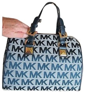 Michael Kors New Satchel in Navy