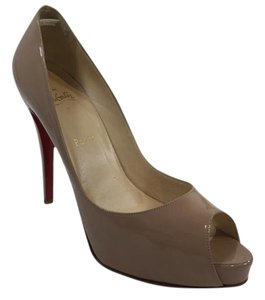 Christian Louboutin Peep Toe Nude Pumps