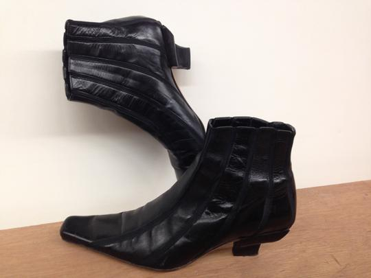 Valentine Leather Italian Florence Slip On Black Boots