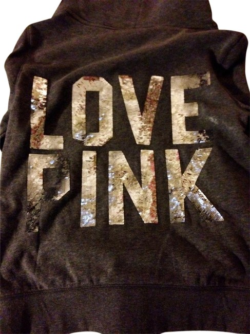 PINK Victoria Secret Silver Sweatshirt