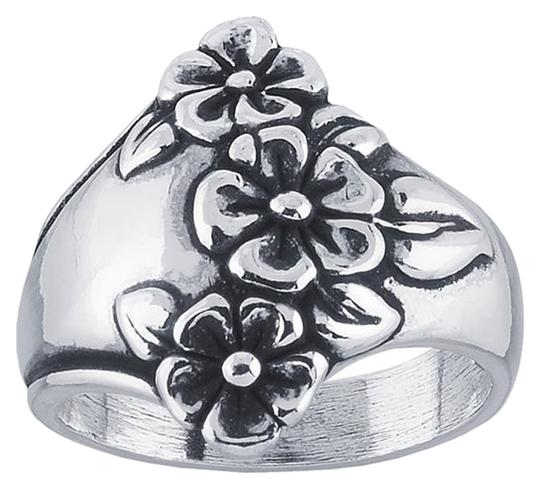 Other Very Nice! Sterling Silver Tapered Floral Ring Sizes 6, 7 or 8