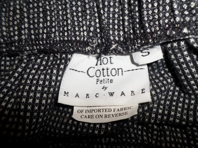 Hot Cotton Capris Black & White Houndstooth