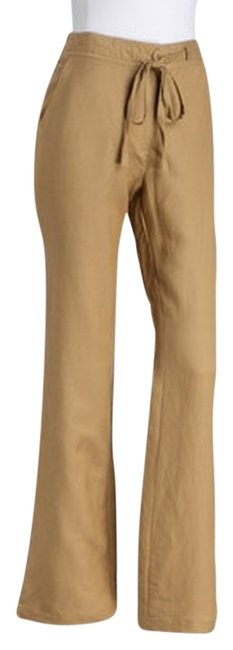 Jen E. Concepts, Joy Mark Tie Waist Linen Blend Baggy Pants khaki