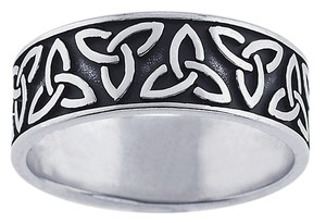 Ladies Sterling Silver Celtic Knots Band Ring