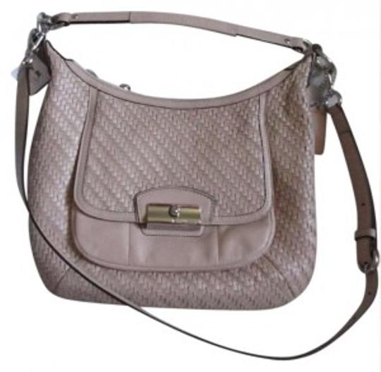 Preload https://item5.tradesy.com/images/coach-kristin-woven-pink-leather-hobo-bag-141354-0-0.jpg?width=440&height=440