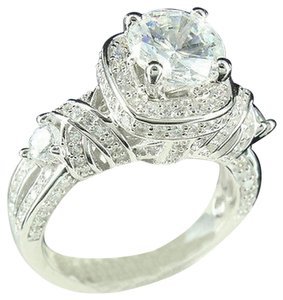 Solitaire Style Lab Diamond Women Cocktail Bridal Ring Custom Ring Gold Finish