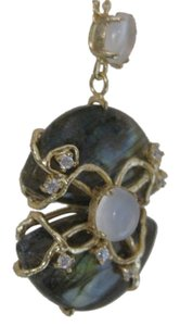Jamison Indulgems Art Deco Labradorite & Moonstone Necklace