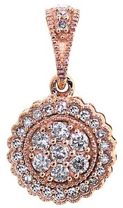 ABC Jewelry 1/4ct Rose gold diamond pendant.
