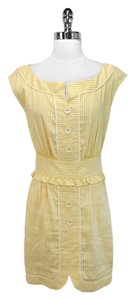 Cynthia Steffe short dress Yellow/White Cotton on Tradesy