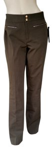 Ralph Lauren Olive Cotton Zippers Strailght Khaki/Chino Pants Green