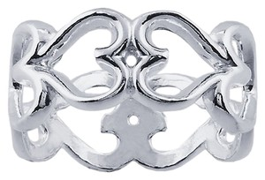 Other Sterling Silver Infinity Hearts Band Ring Size 7, 8 or 9