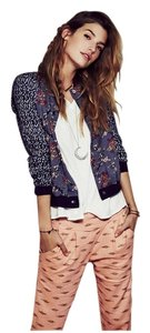 Free People Printed Linen Pants
