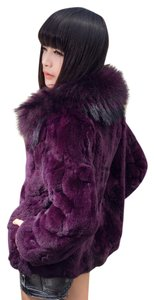Other Rabbit Fur Coat Fur Coat Real Fur Coat Fur Coat Fox Rabbit Fur Coat Purple Jacket