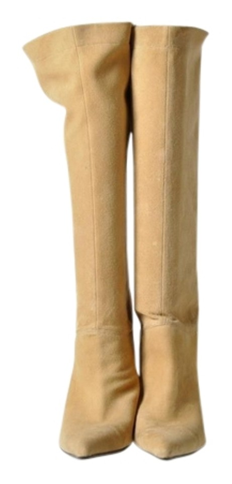 meet a1ecf 4ca96 Enzo Angiolini Brown Camel Knee High Pointy Toe Low Heel Boots/Booties Size  US 7 Regular (M, B)