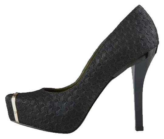Christian Siriano for Payless Band Black/Gold Pumps
