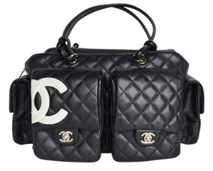 Chanel Cambon Ligne Quilted Reporter Shoulder Bag