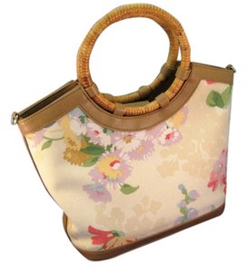 Fossil Satchel in Cream and Pastel Florals