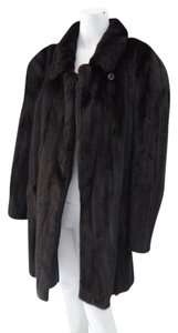 Goldin Feldman Black Mink Winter Fur Coat