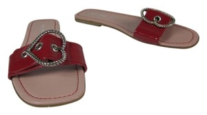 Miu Miu Leather Flat Flip Flop Sandals