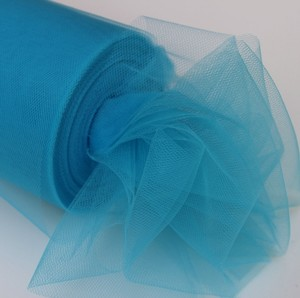Turquoise Tulle Huge Roll - 100 Yd X 6 In Turquoise Tulle Spool - Tulle Roll Free Ship