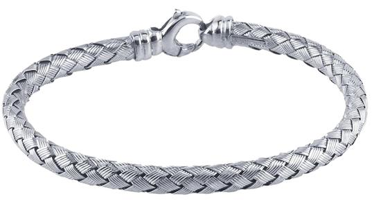Other Sterling Silver Rhodium-Plated Braided Bracelet