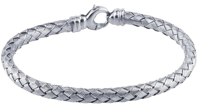 Silver Sterling Rhodium-plated Braided Bracelet Silver Sterling Rhodium-plated Braided Bracelet Image 1