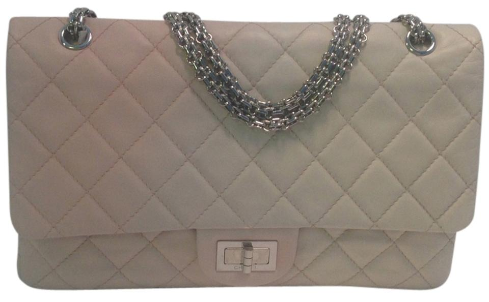 5d7cf46ce276 Chanel 2.55 Reissue Reissue 12.20 All Chain Ombre Pink Cream White Lambskin  Leather Shoulder Bag