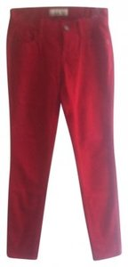 Old Navy Cords Skinny Skinny Pants Red