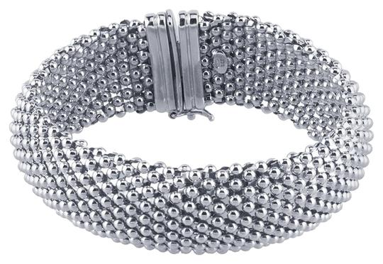 "Brian GDesigns ""Metal Groupie"" Sterling Silver Rhodium-Plated Mesh Bracelet"