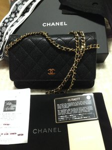 Chanel Small Caviar Leather Cross Body Bag