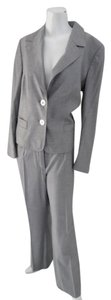 Escada ESCADA Light Gray Classic Business Suit Jacket & Pant Size 40