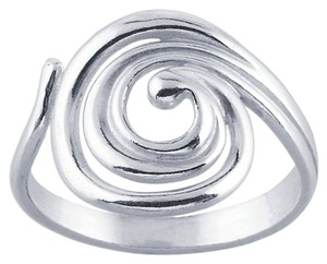 Modern Sterling Silver Swirl Ring