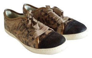 Lanvin Sneaker Leather Lavin Multi / Beige / Leopard Athletic