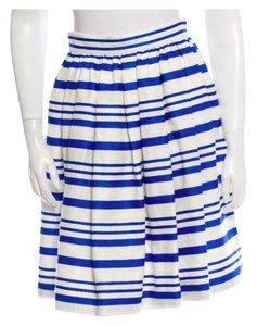 Dolce&Gabbana Stripped Dolce Skirt blue and white