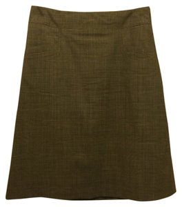 Banana Republic Glen Plaid Suiting Skirt