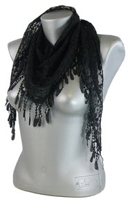 Other Lacy Lace Accent Boho Chic Black Scarf