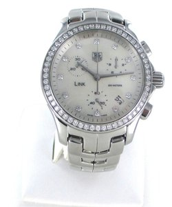 TAG Heuer TAG HEUER LINK WATCH 68 DIAMOND BEZEL DIAL MOTHER PEARL CJF1314 BA0580 STEEL